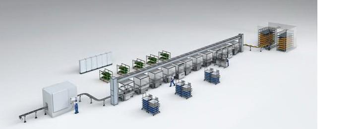 Linea di assemblaggio automatizzata di Bosch Rexroth