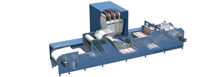 Funzionamento interno di una macchina da stampa digitale, stampa e conversione di Bosch Rexroth