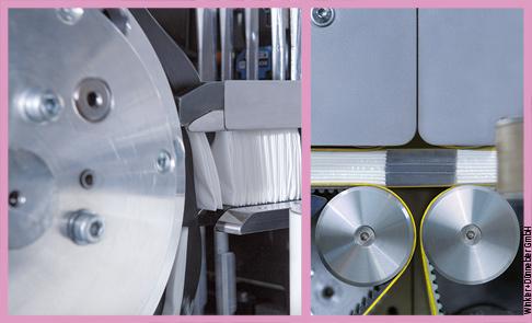 Nella FLOWTOS, azionamenti e unità di controllo Bosch Rexroth coadiuvano lo svolgimento di vari compiti: dal raggruppamento dei fazzoletti...