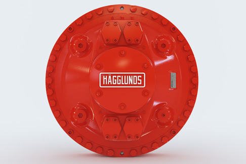 The Hägglunds hydraulic motor from Rexroth has a torque of 80,000 Nm at 50 rpm.