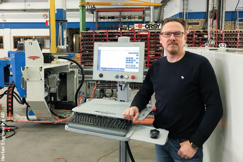 A safe solution for the next 15 years: Anders Alrutz, shareholder and technical director at Herber, is satisfied with the new HMI.