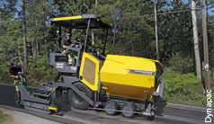 Efficient hydraulics for compact road pavers