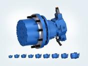 Un apposito freno dinamico integrato a lamelle multiple riduce peso e spazi d'installazione.